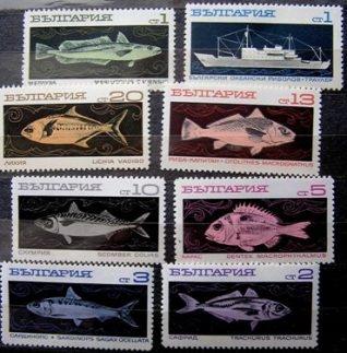 Болгария - Mi 1947/54 - Морская рыбалка
