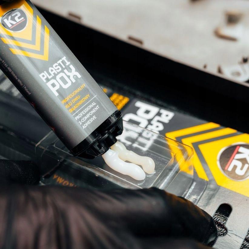 K2 PLASTIPOX универсальный пластиковый клей сильная емкость упаковки 25 мл