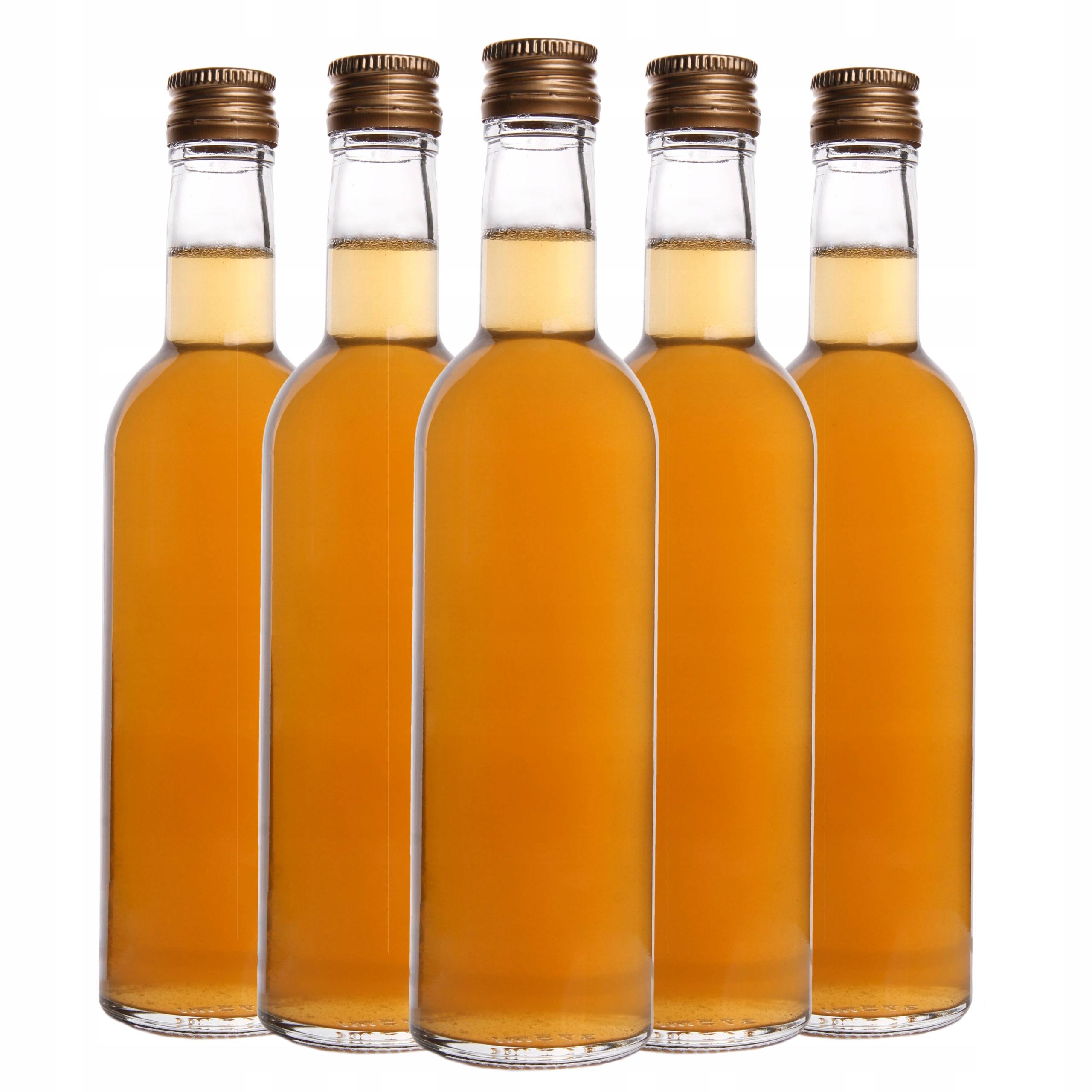 5 стеклянных бутылочек FUTURA 375 мл для спиртовой нити
