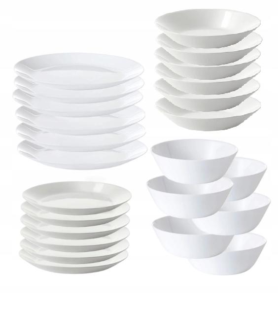 Тарелки сервировочные, чаша IKEA Oftast 6 персон / 24 элемента