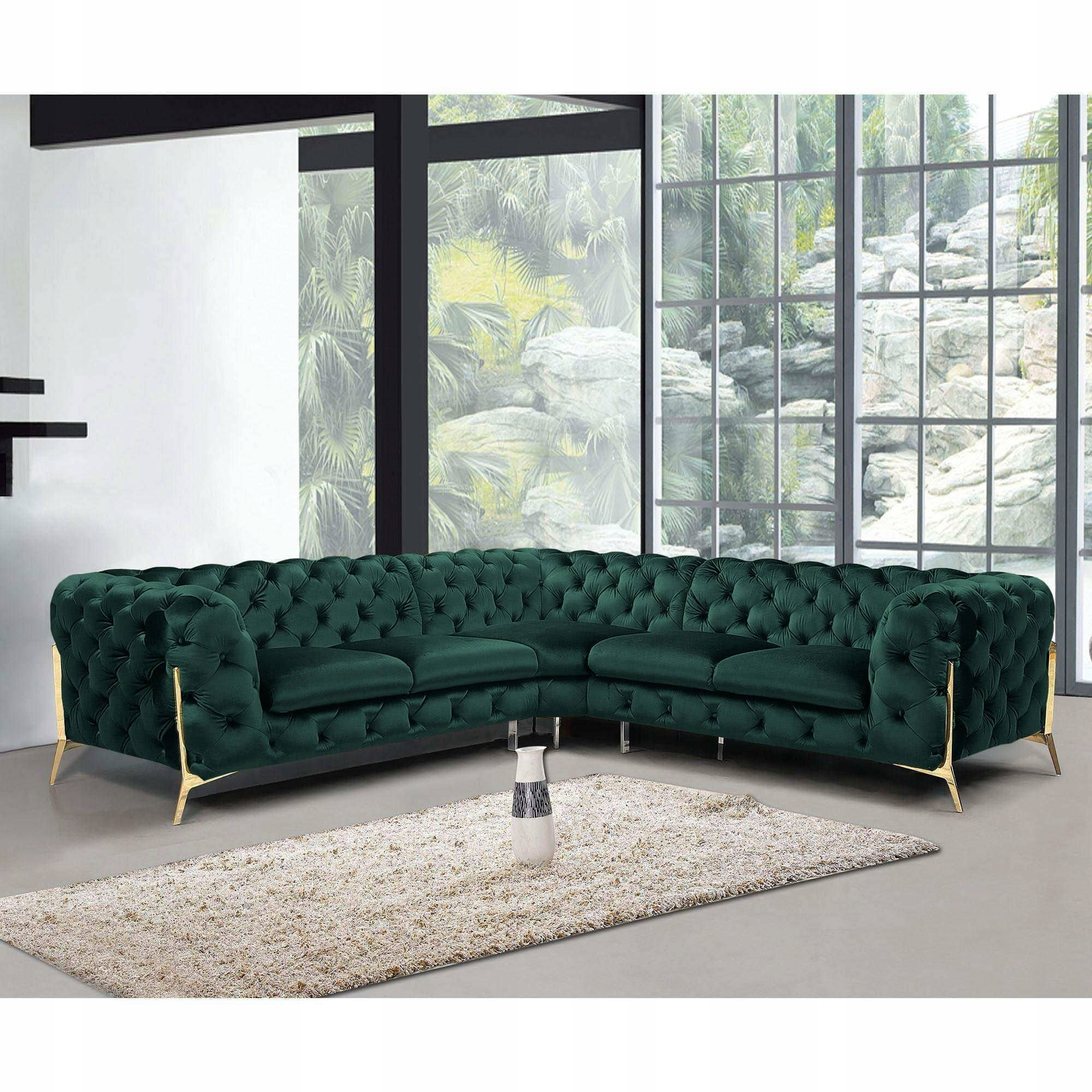 Угловой диван GLAMOUR STYLE Quilted Large Modern