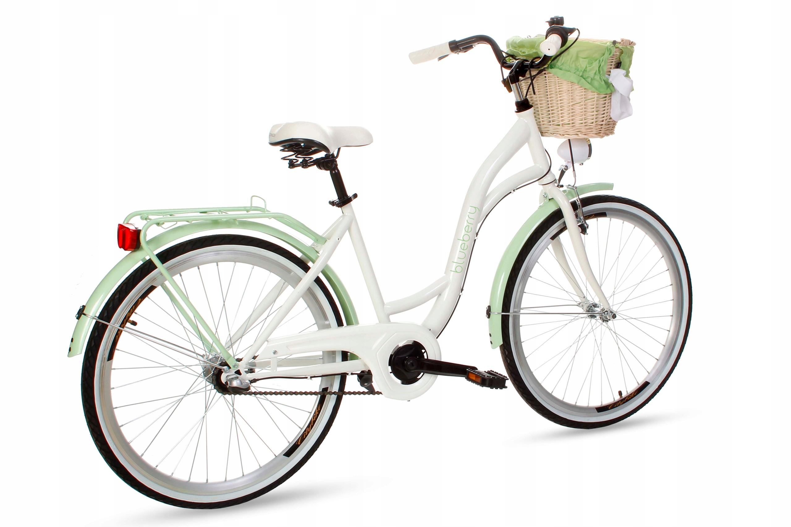 Dámsky mestský bicykel Goetze BLUEBERRY 26 3b košík!  Materiál rámu oceľ