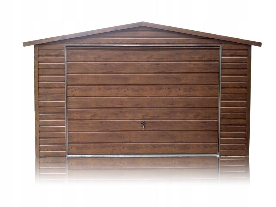 Garaż blaszany drewnopodobny garaże blaszak 4x6
