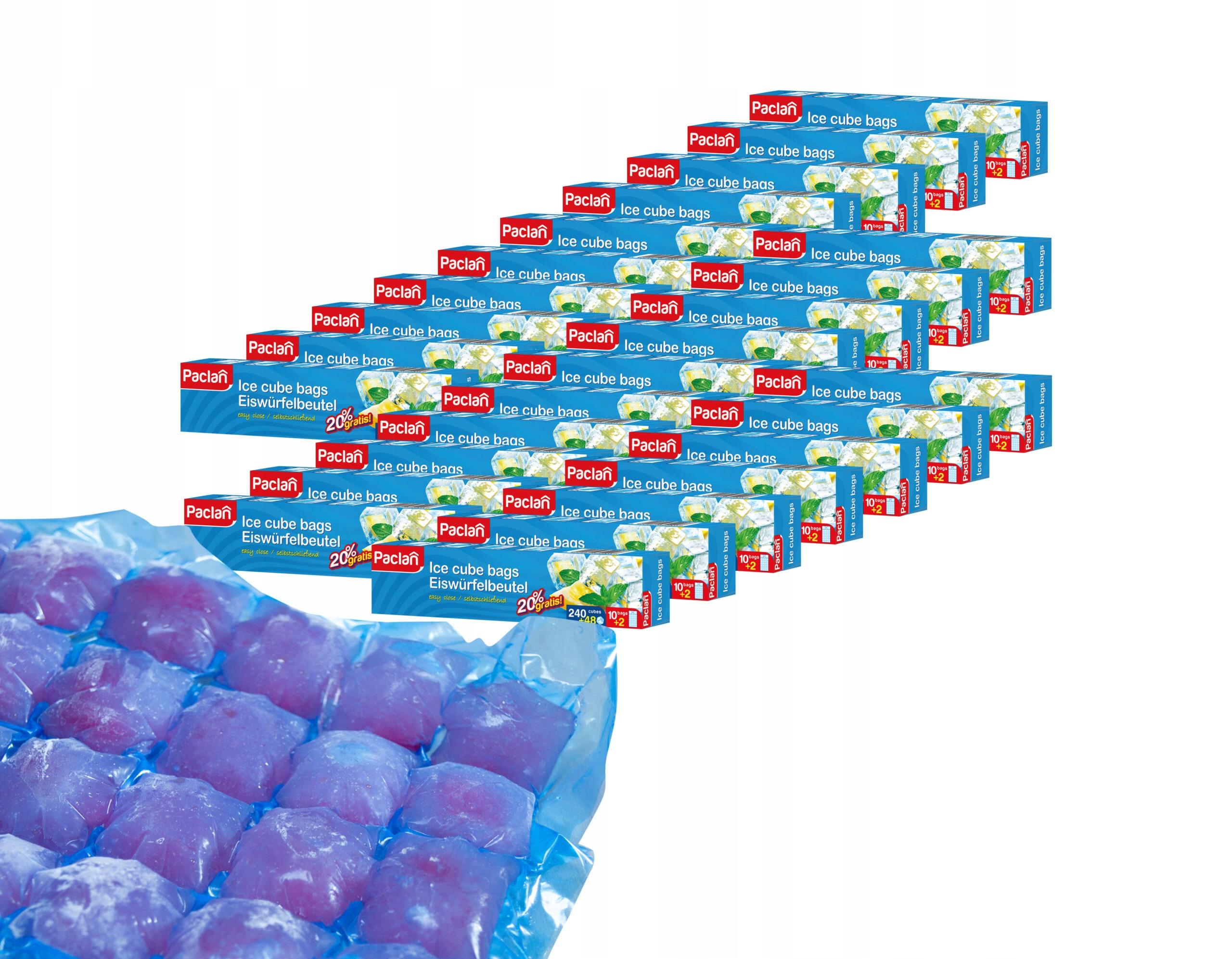 Самозакрывающиеся пакеты для льда 288 кубиков 27 пачек