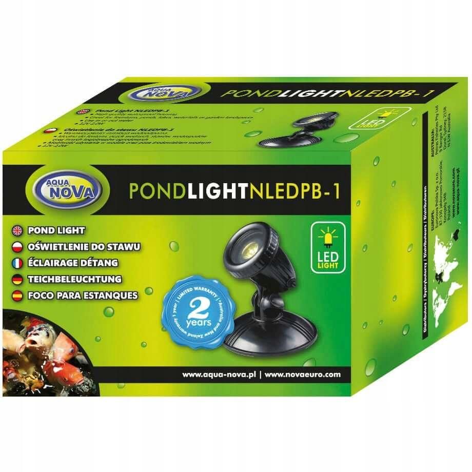 AQUA NOVA NLED-PB1 LAMPA REFLEKTOR LED DO OCZKA