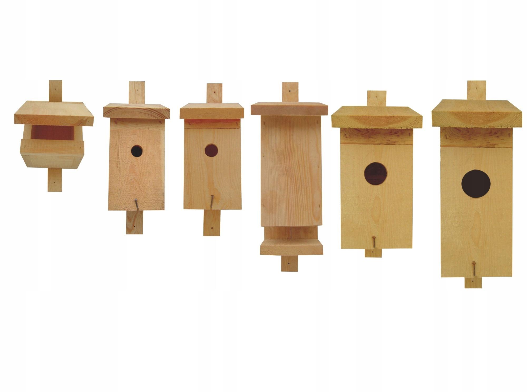 Скворечники для птиц - набор из 6 предметов. Продукт PL