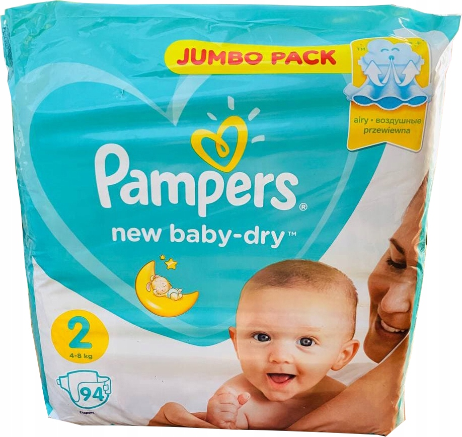 Pampers NEW Baby Dry размер 2 (4 8кг) 94шт.