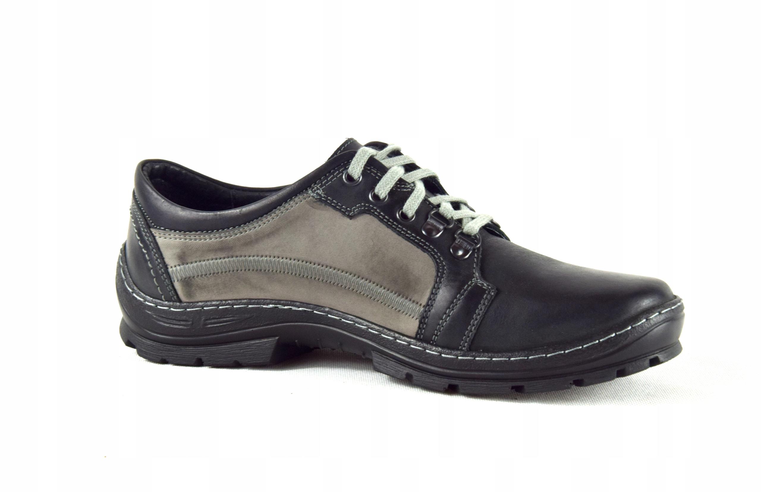 Półbuty trekkingowe męskie buty skórzane PL 192 Rozmiar 42