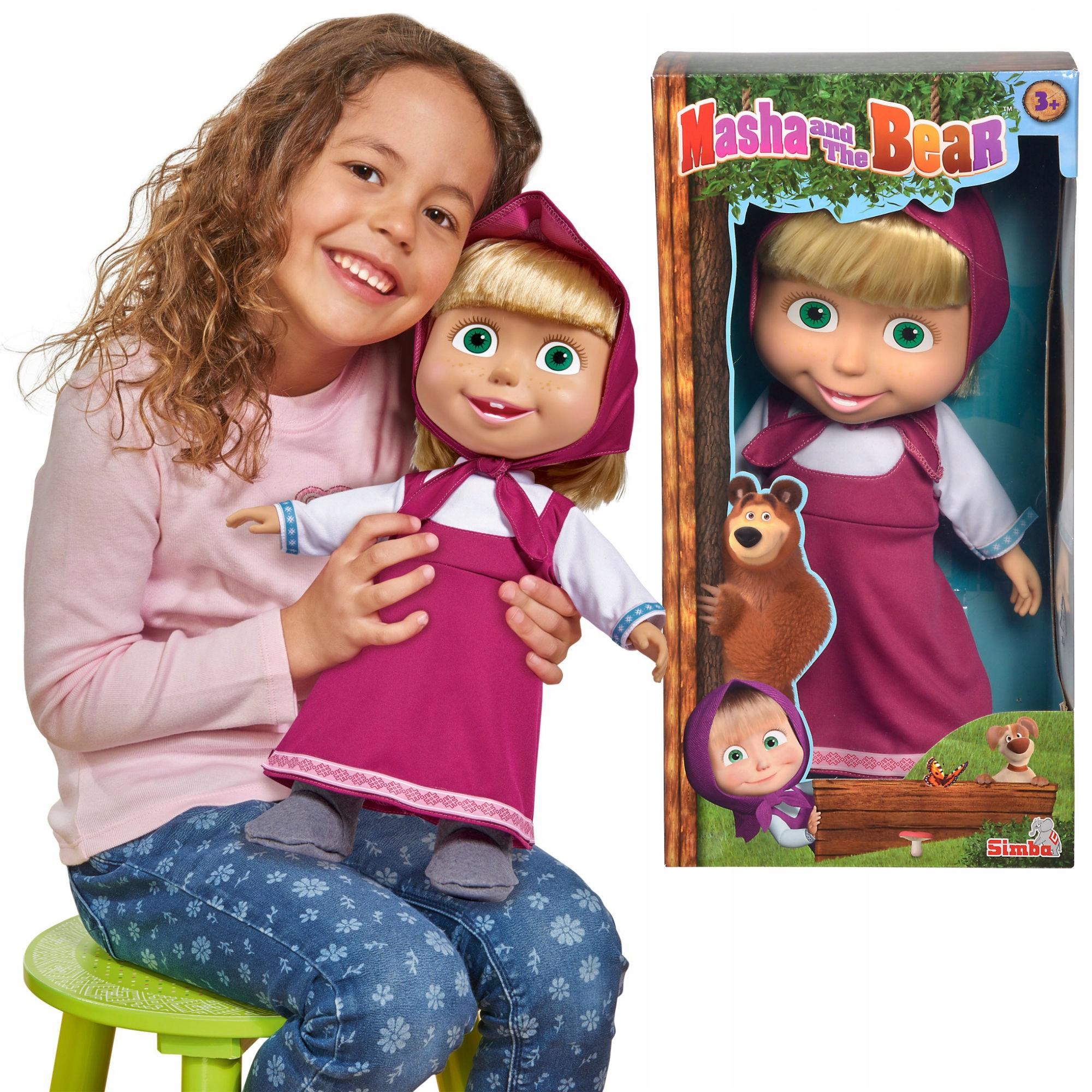 Máša a medveď jemná veľká bábika 40 cm simba