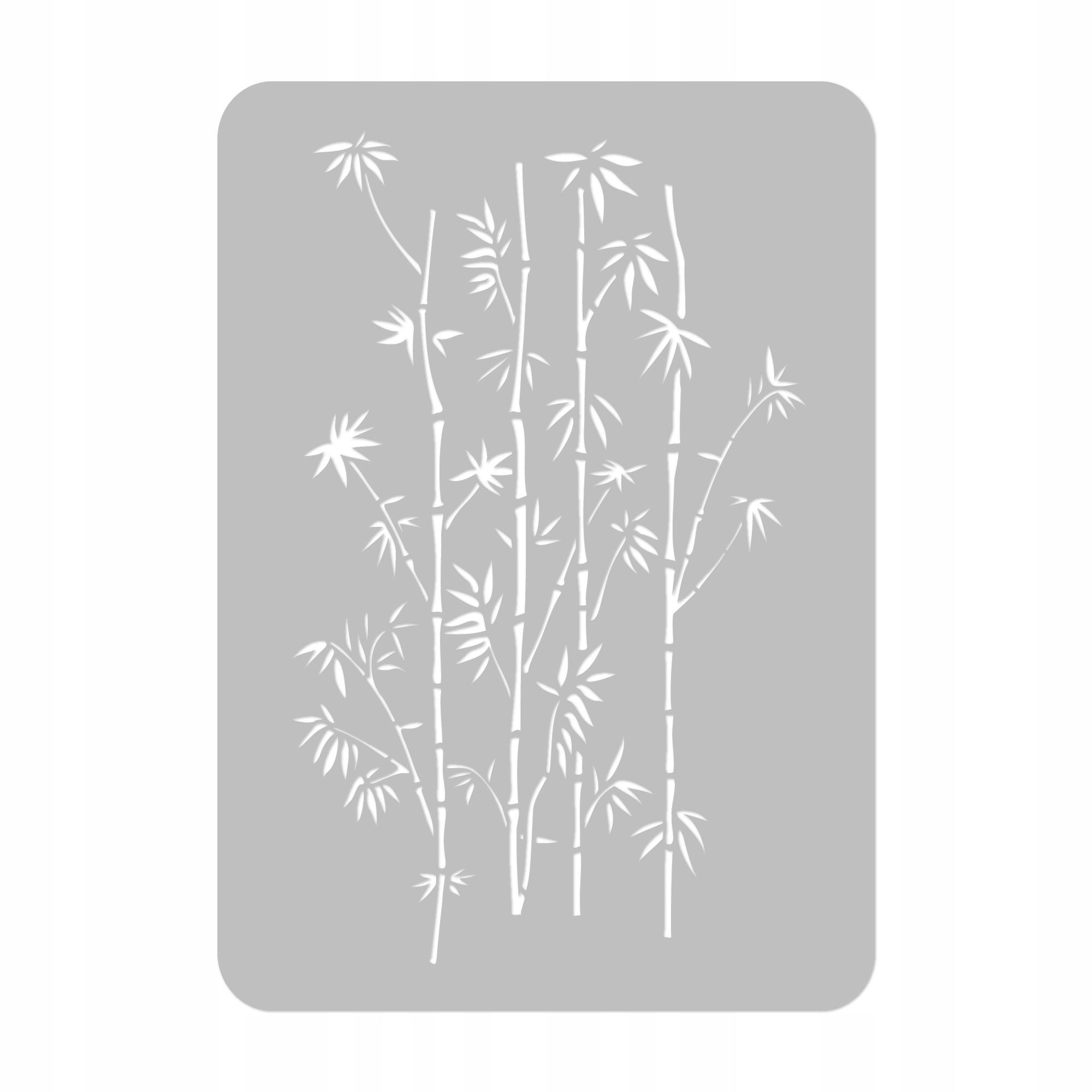 SZABLON MALARSKI /45x65/ Pnącza Bambusa