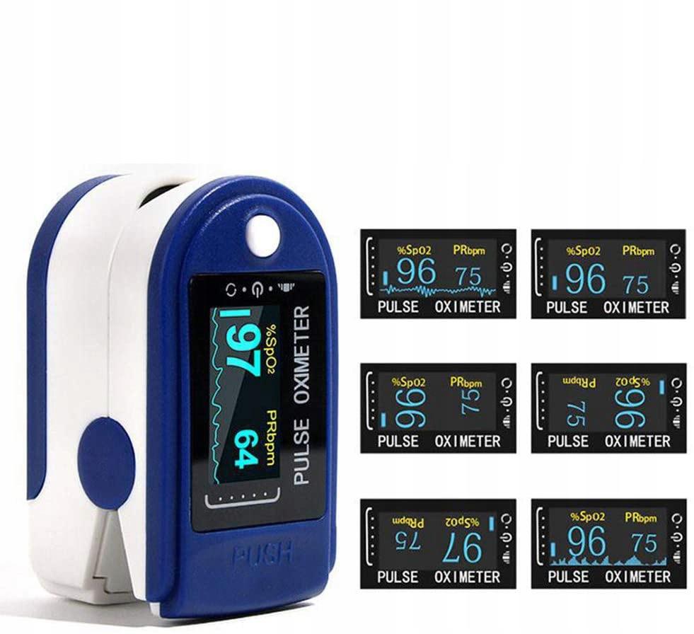 Pulsoksymetr Medyczny Na Palec Pulsometr Napalcowy Zasilanie bateryjne