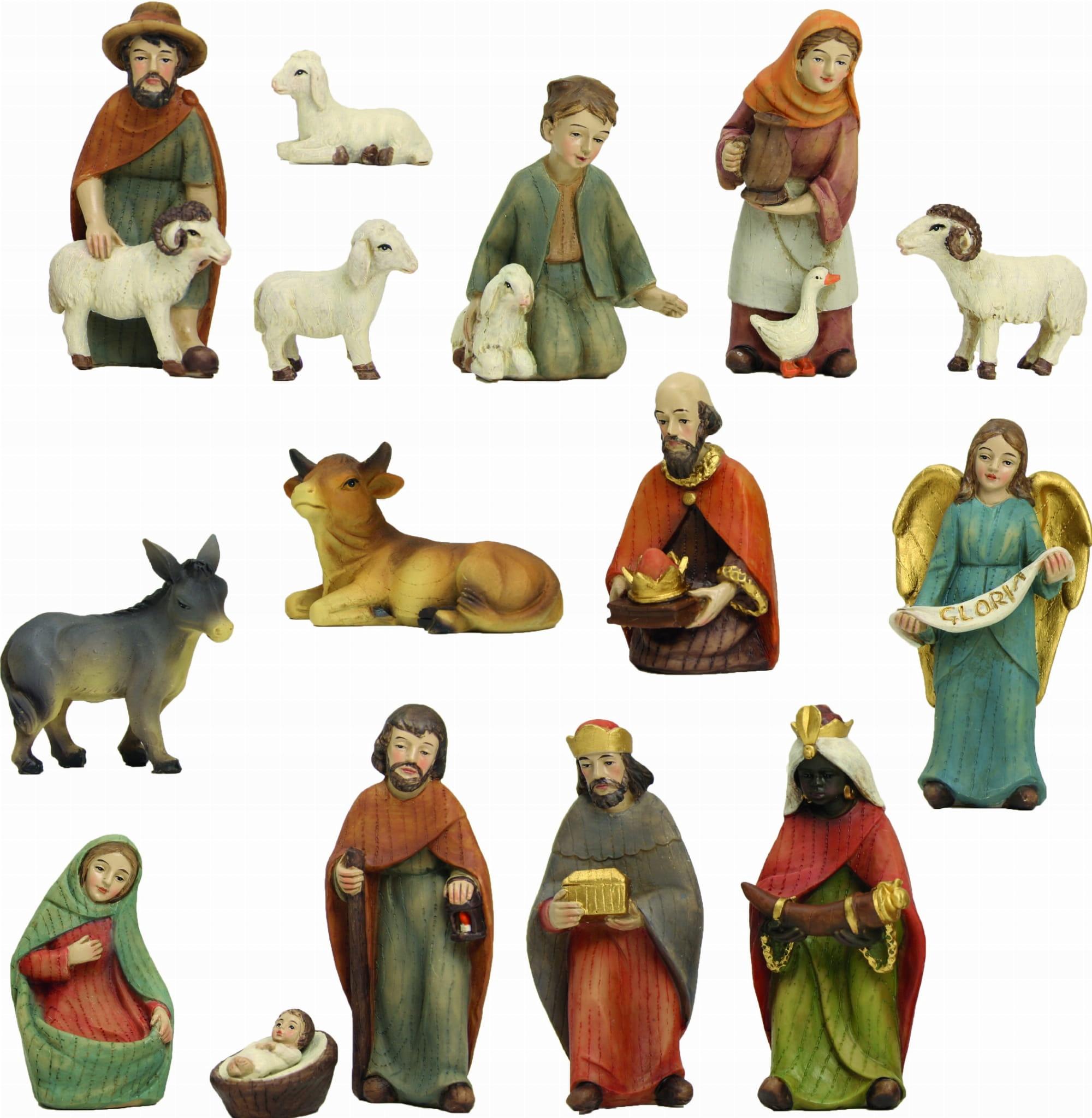 Postavy betlehema - DREVENÝ VZHĽAD - 12 častí - 10cm