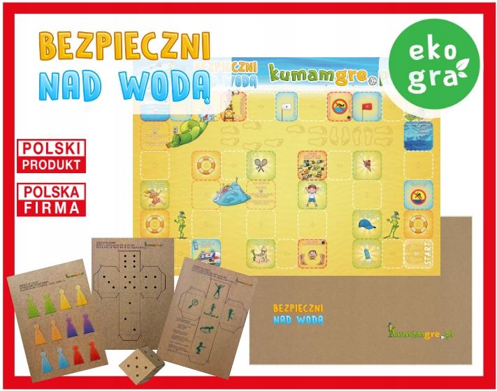 eko gra kopertowa dla dzieci BEZPIECZNI NAD WODĄ