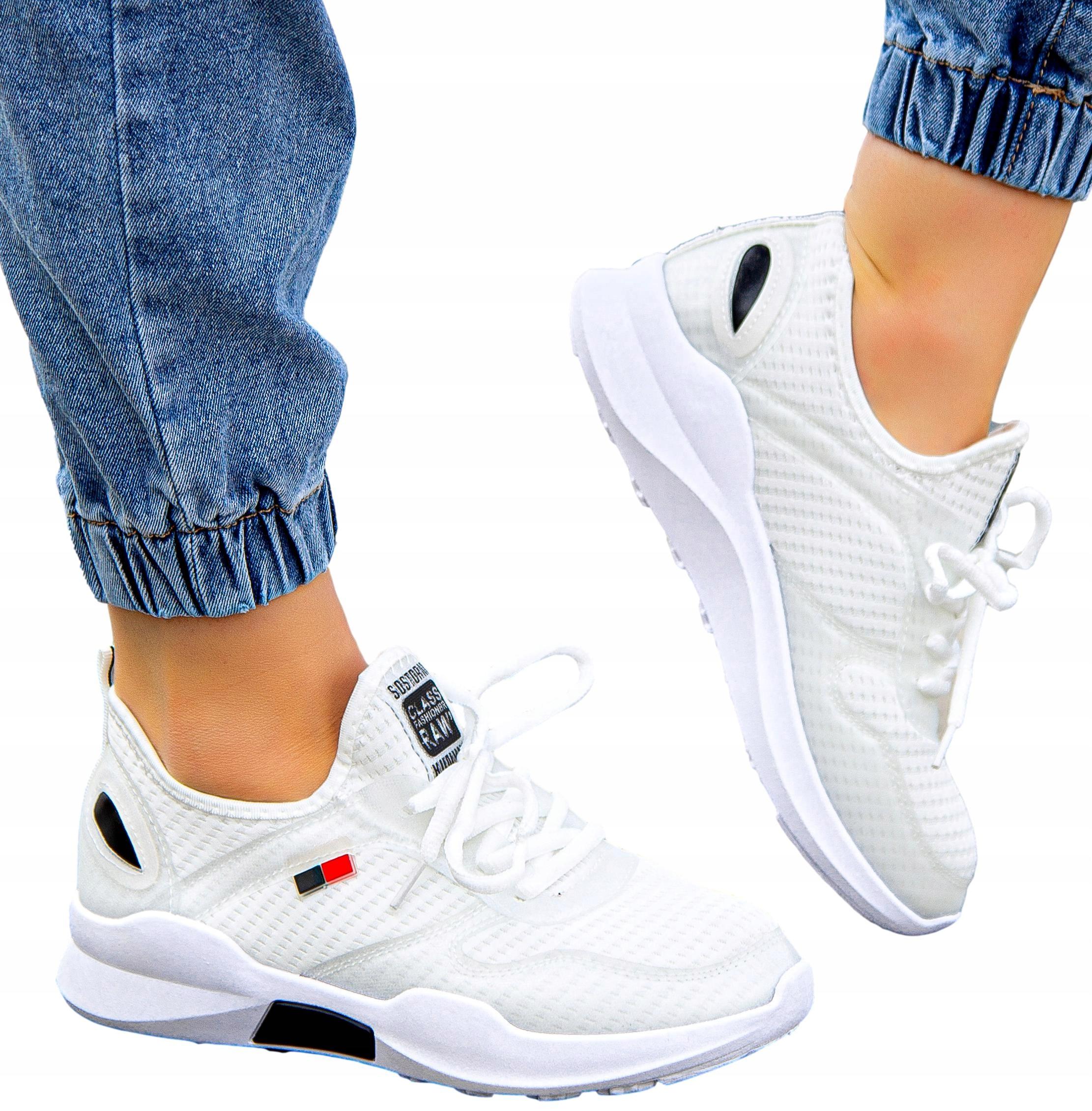 Białe adidasy damskie buty sportowe do biegania 41