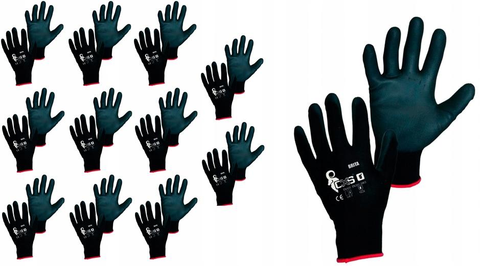 Перчатки рабочие BRITA CXS ПОЛИУРЕТАН черный 8