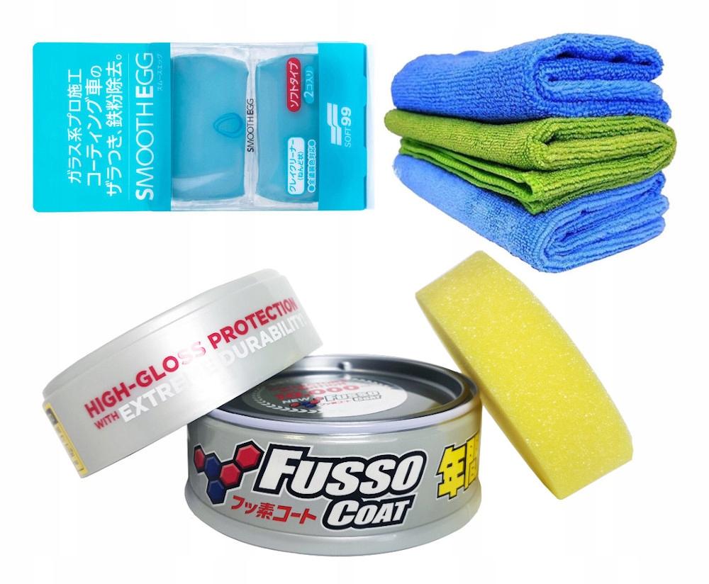 Soft99 Zestaw do woskowania samochodu Fusso Light