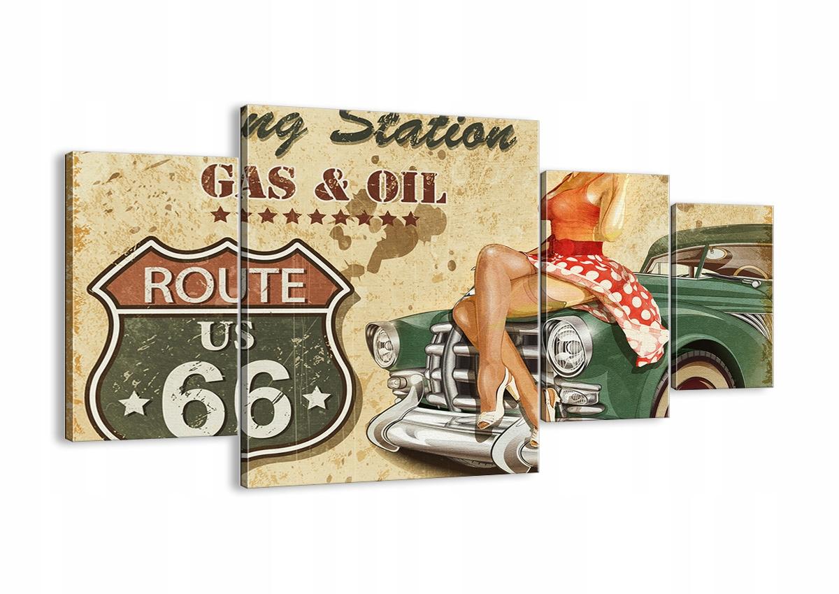 Plátno umenie route 66 Retro DL160x90-2953