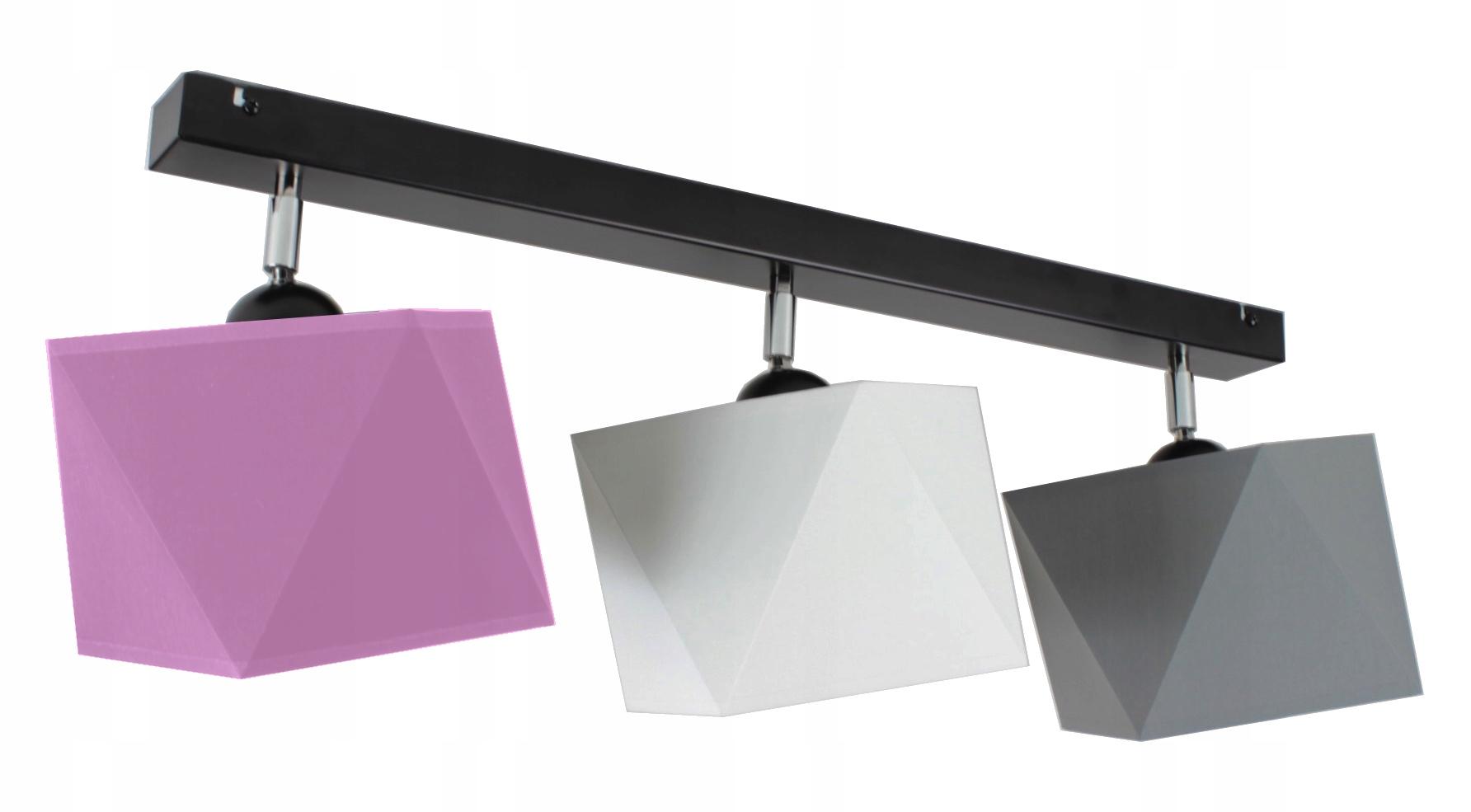 LAMPA WISZĄCA SUFITOWA ŻYRANDOL ABAŻUR DIAMENT LED