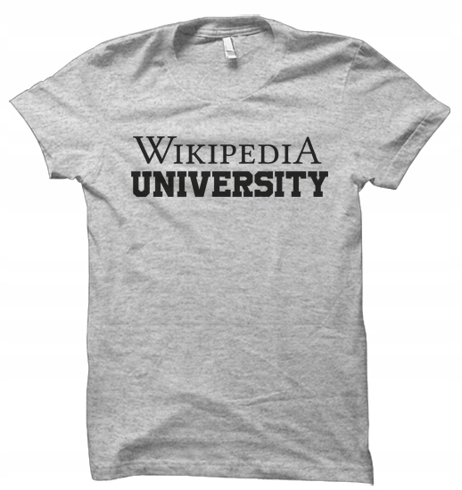 WIKIPEDIA UNIVERSITY student t shirt damskaXXL