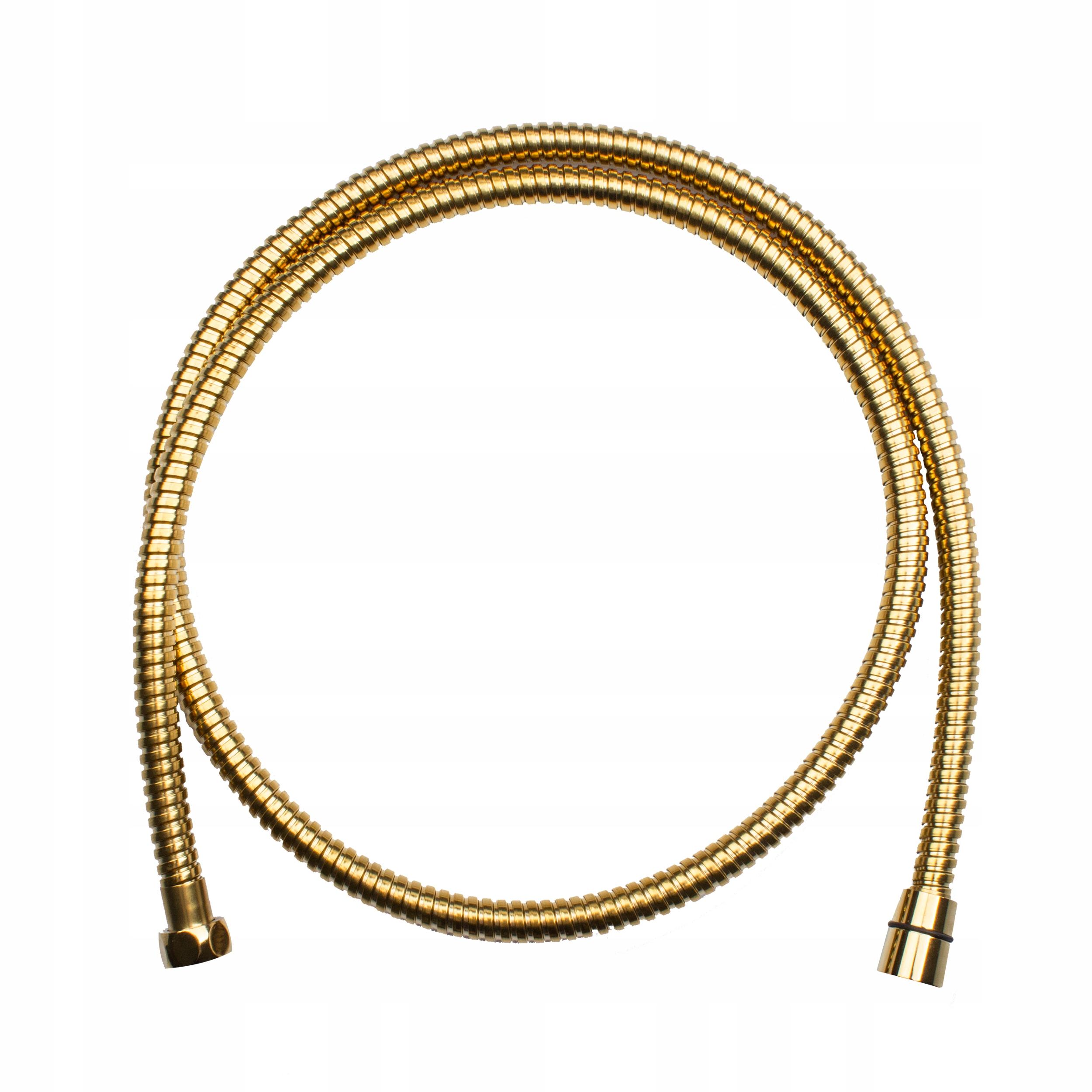 Wąż prysznicowy ze stali OBROTOWY kolor złoto