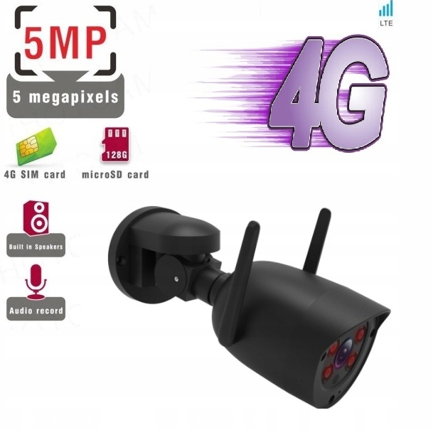 Kamera Obrotowa GSM 4G SIM LTE 5MPx SONY Tracking