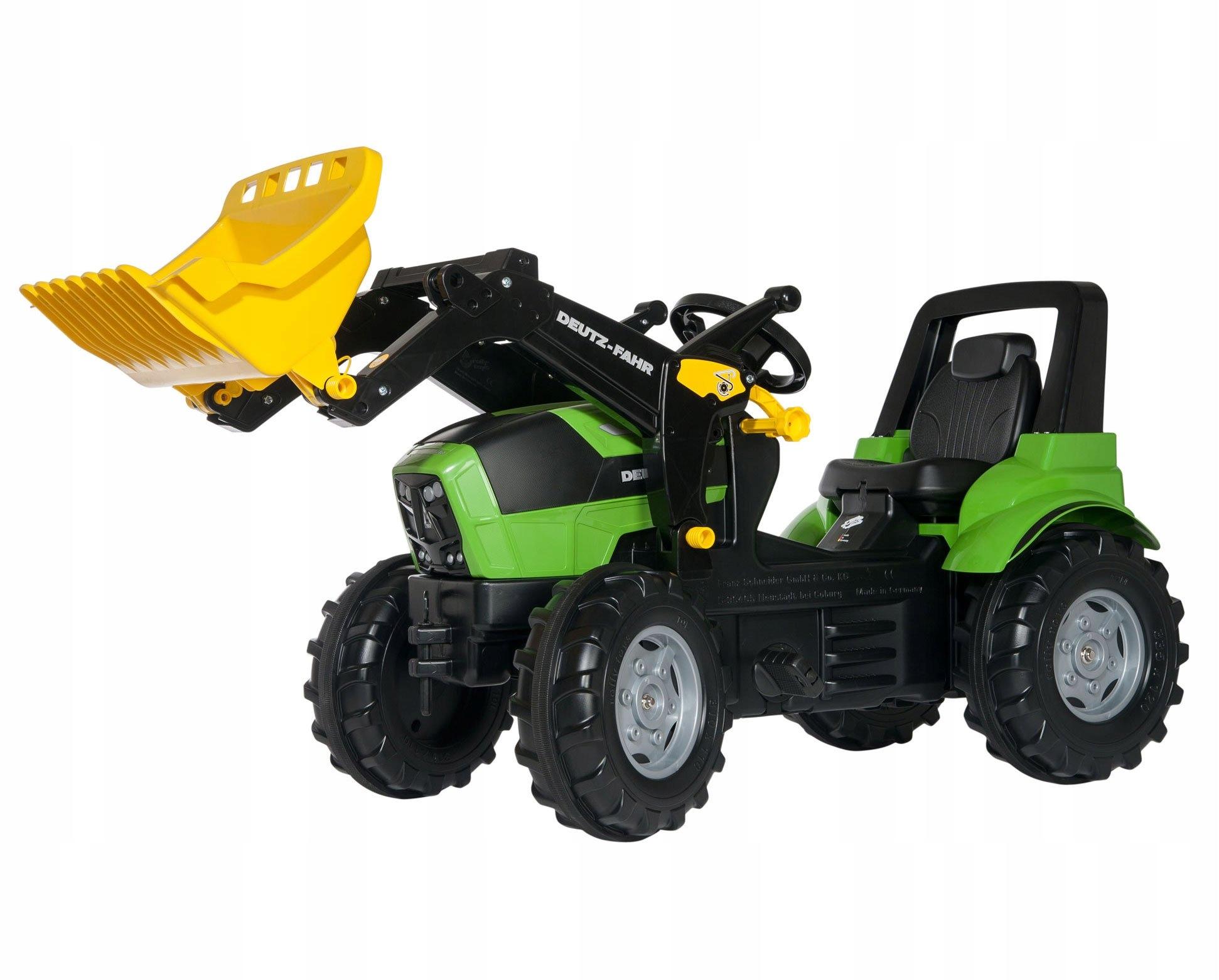 Traktor Pedly RollyToys s lopatou Deutz-Fahr