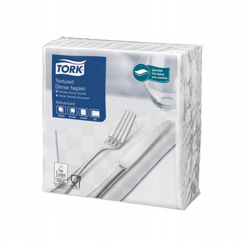 Tork 478785 - Serwetki obiadowe, Białe 2w Advanced