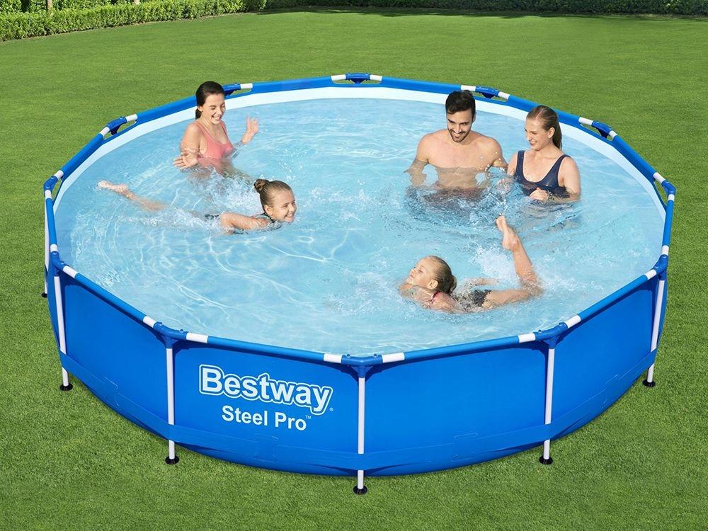 Záhradný bazén Bestway Frame 366x76 56706 6v1 okrúhleho tvaru