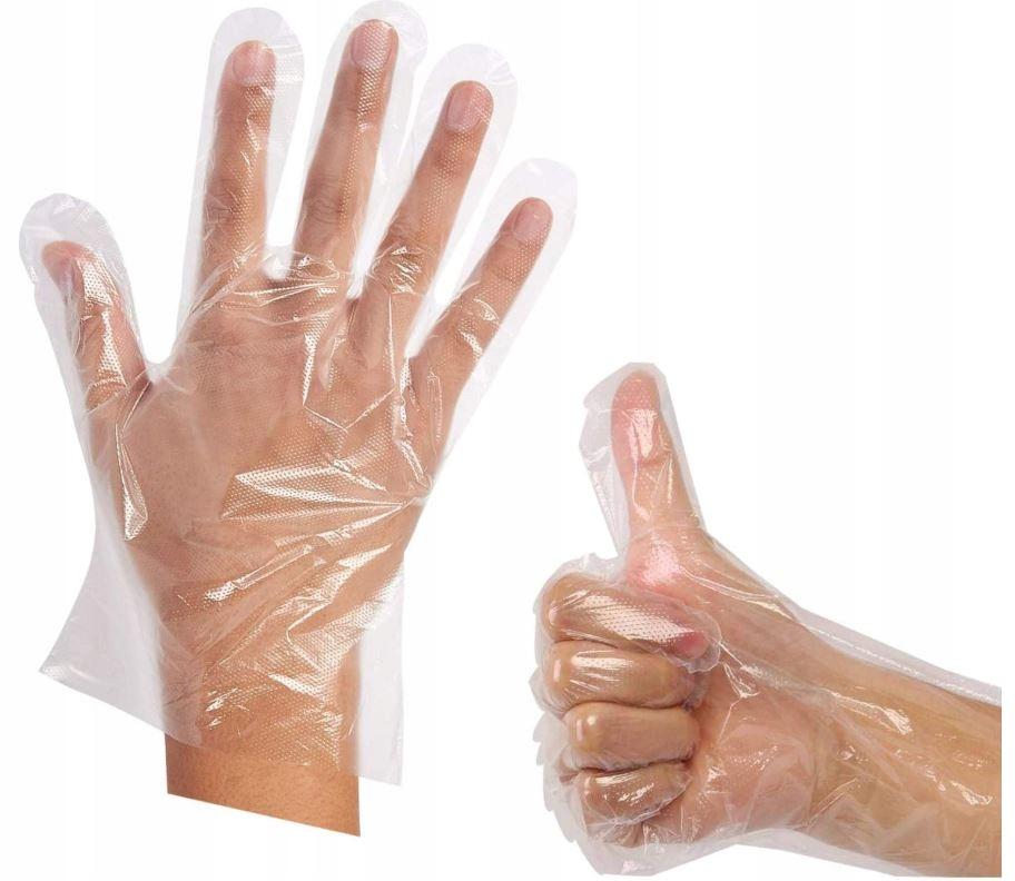Перчатки полиэтиленовые 100 шт одноразовые косметические