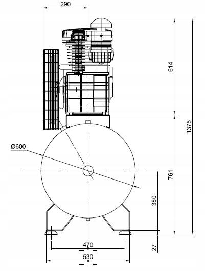SPRĘŻARKA KOMPRESOR 500L ATLAS COPCO AC 100E 500 T Zasilanie elektryczne sieciowe
