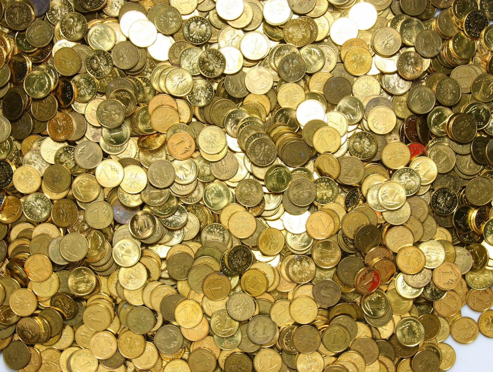 Monety obiegowe - 1 GROSZ - do 2014 - zestaw 1 KG