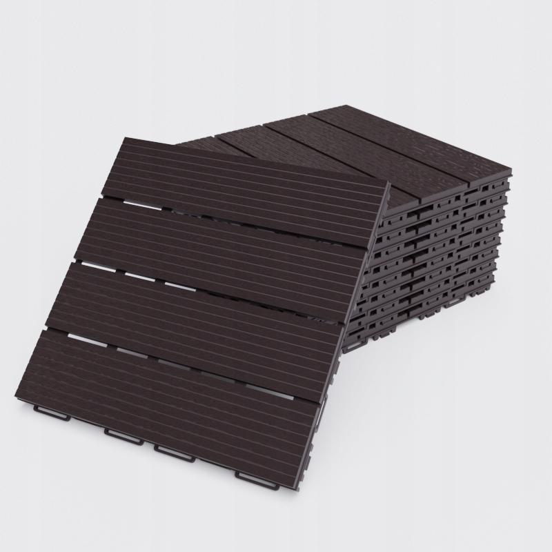 Terasové parkety Morion hnedé 8 ks. 30x30cm