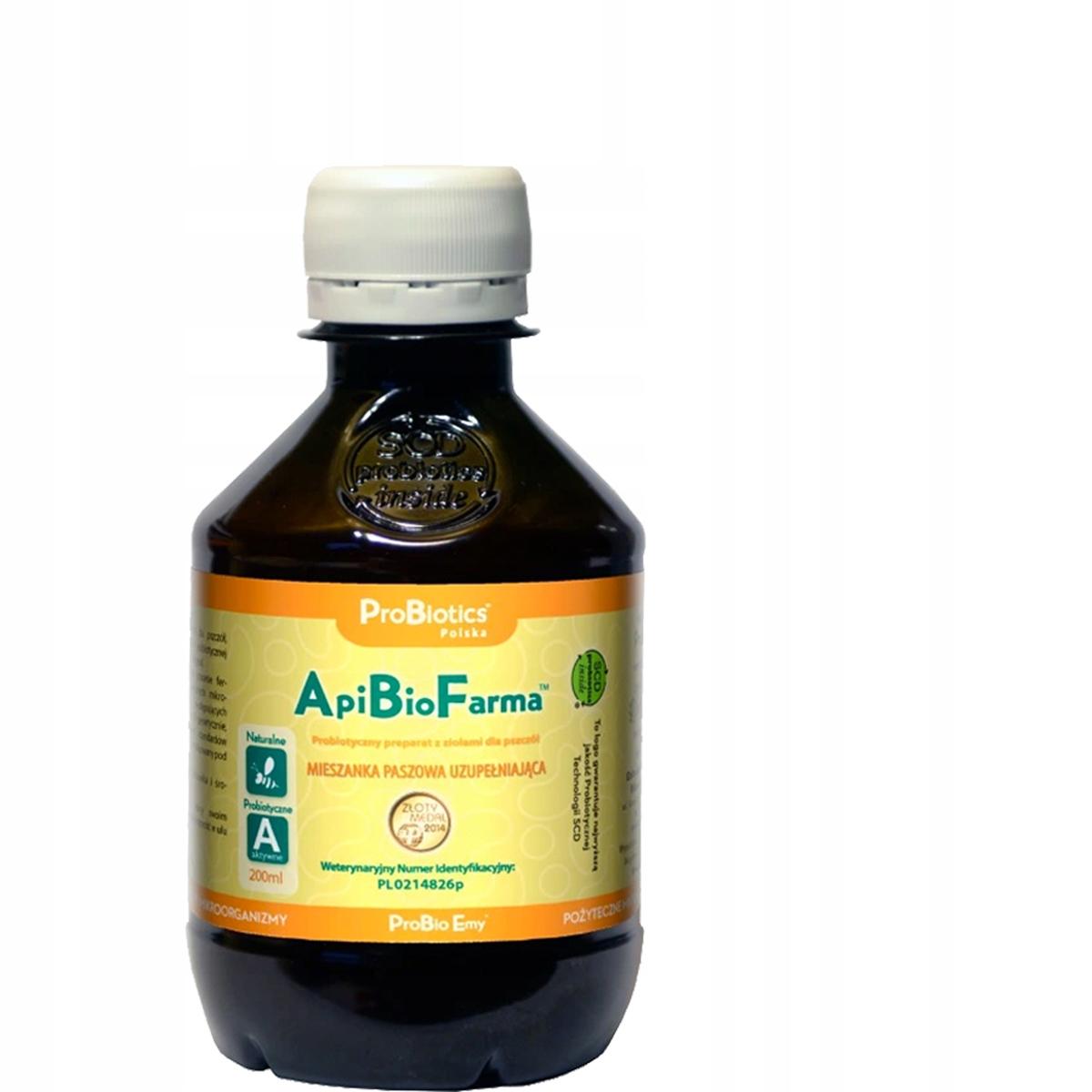 SUPER Probiotyk WZMACNIA pszczoły ApiBioFarma 0,2L