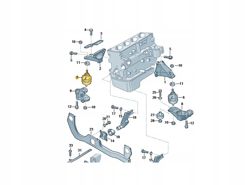 подушка двигателя права audi a4 b7 8e0199382ag