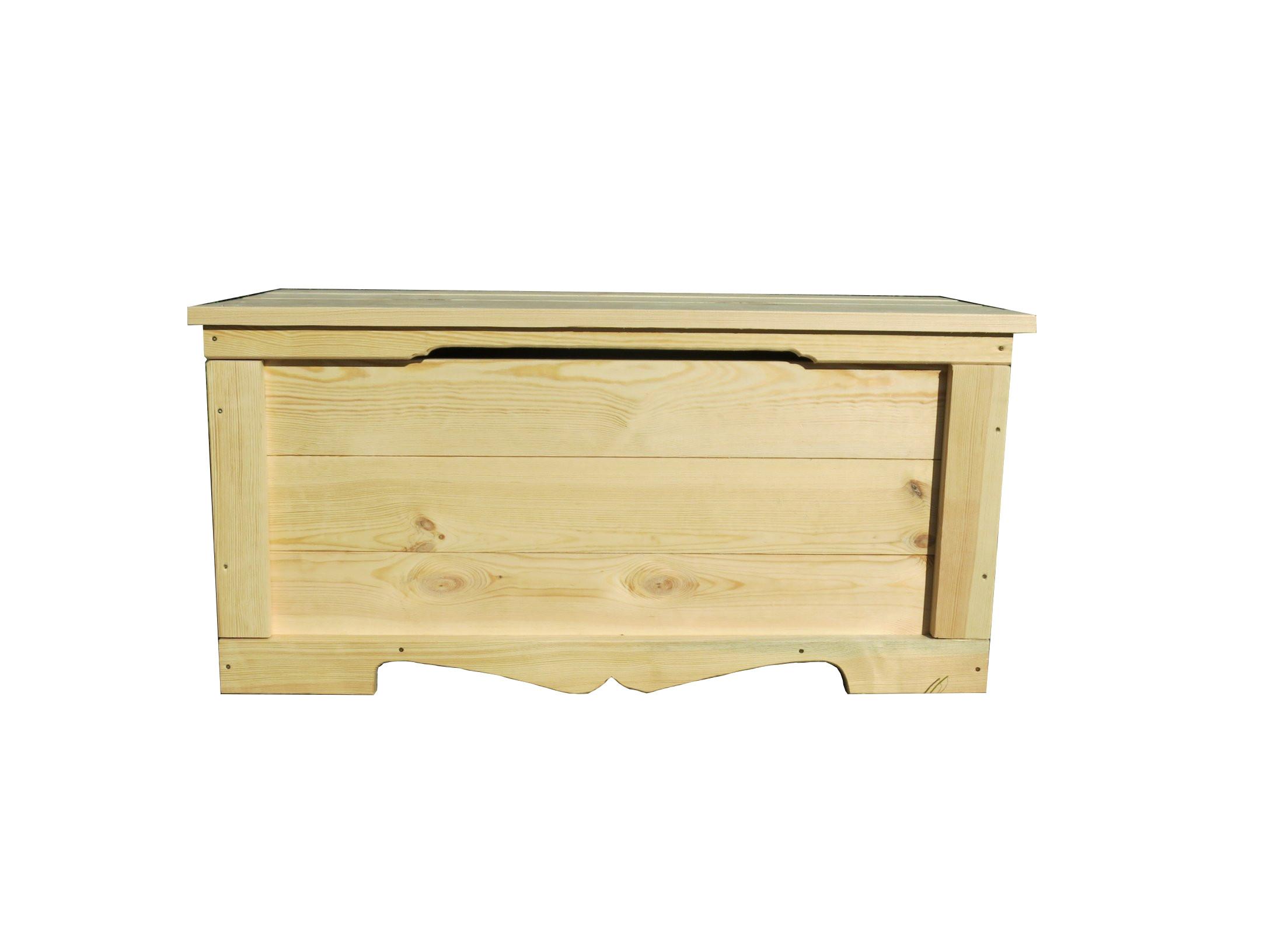 Skrzynia kufer drewniany solidny 100 x 48 x 48 cm