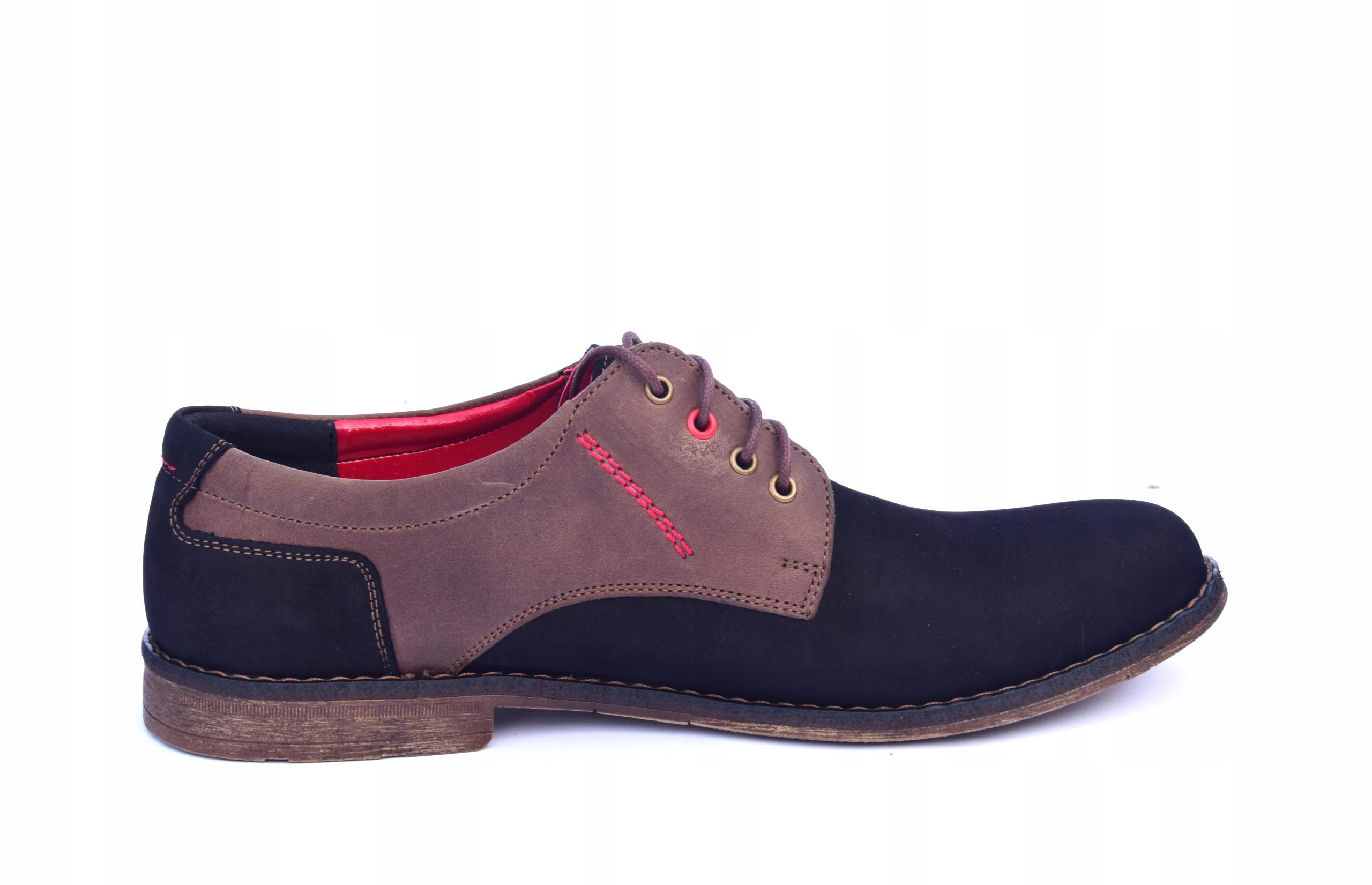 Buty skórzane męskie obuwie polskiej produkcji 258 Rozmiar 41