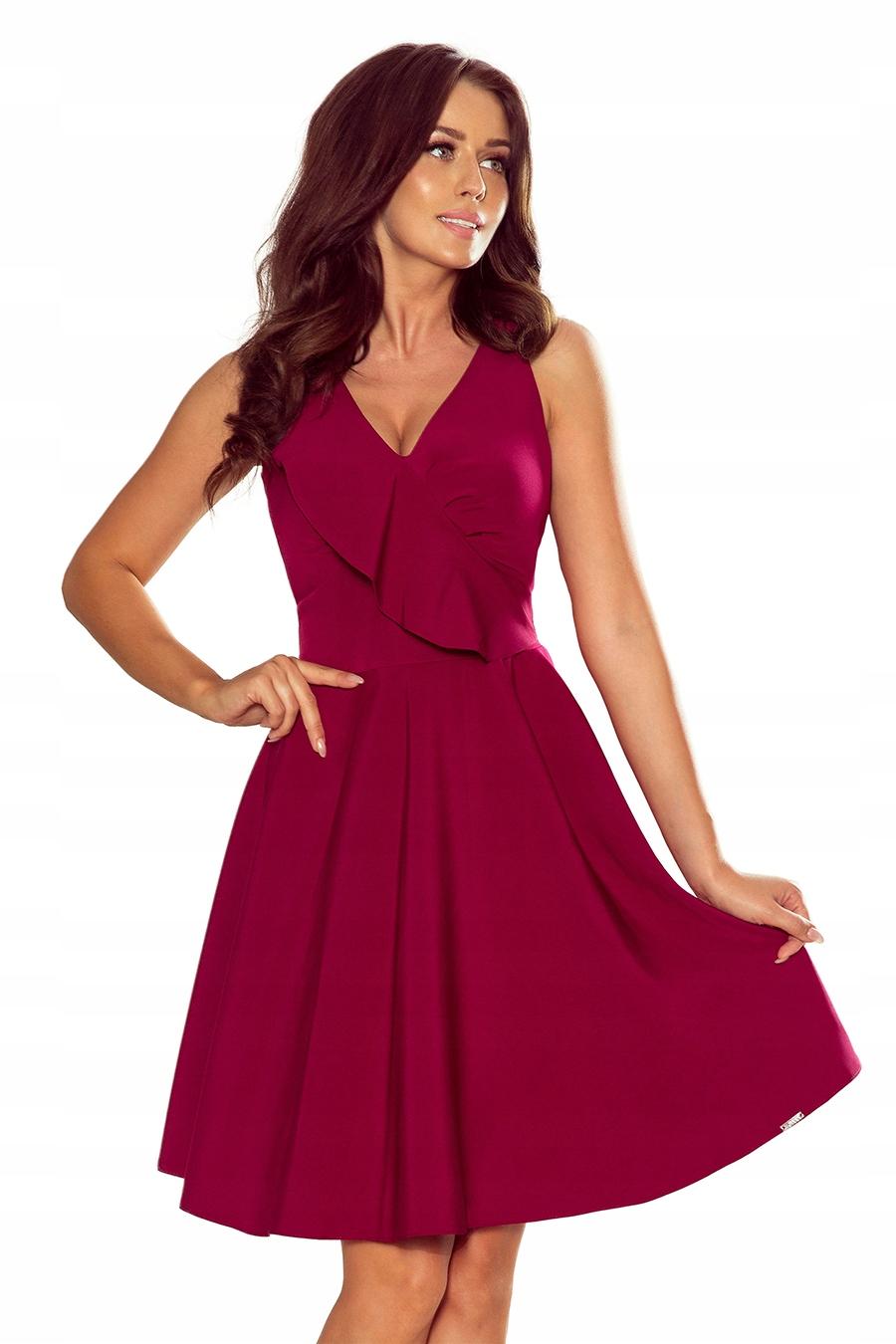 Numoco Rozkloszowana sukienka wesele 274-1 r. S