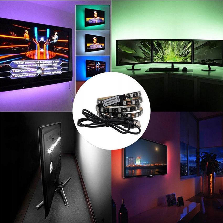LED TV RGB TAPE 5V USB 1M Podsvietenie + DIAĽKOVÉ OVLÁDANIE Napätie (V) INÉ