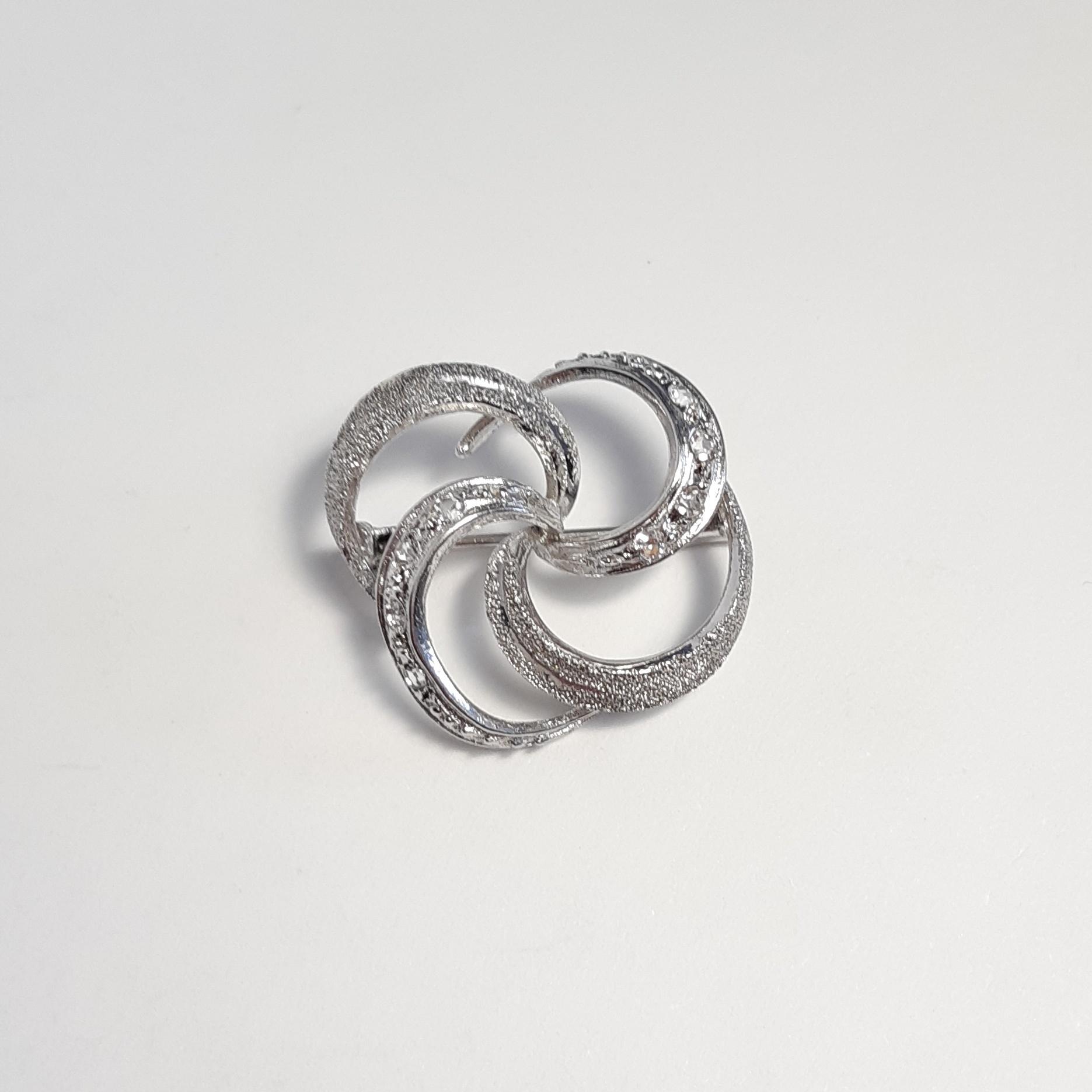 Broszka - srebro pr. 0,925 - rodowana cyrkonie