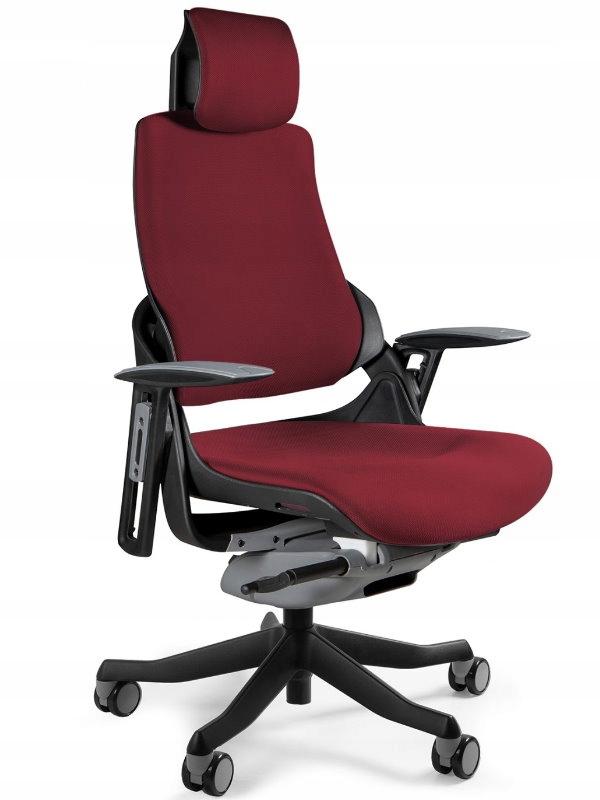 WAU ergonomické stoličky office Deepred - certifikát