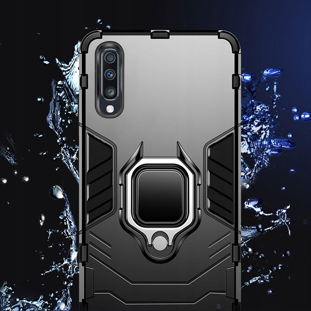 ETUI ARMOR RING HOLDER SZKŁO do Samsung Galaxy A50 Producent INNY