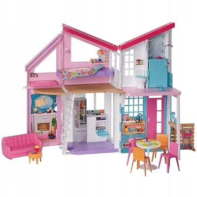 Barbie dom Malibu 6 izieb + príslušenstvo FXG57