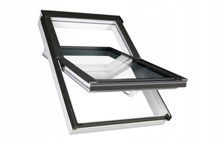 Мансардное окно с 3 стеклами OptiLight TLP U4 78x118 PVC