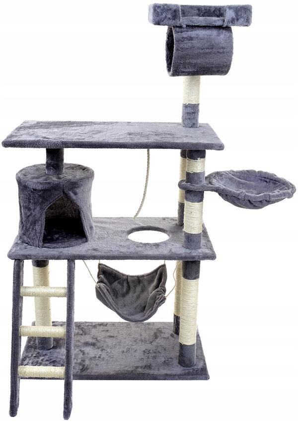Škrabadlo na mačky, veža, dom s hojdacou sieťou