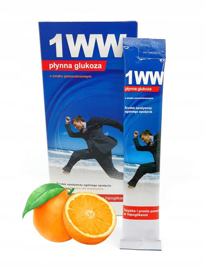 1WW жидкая глюкоза со вкусом апельсина 10 штук