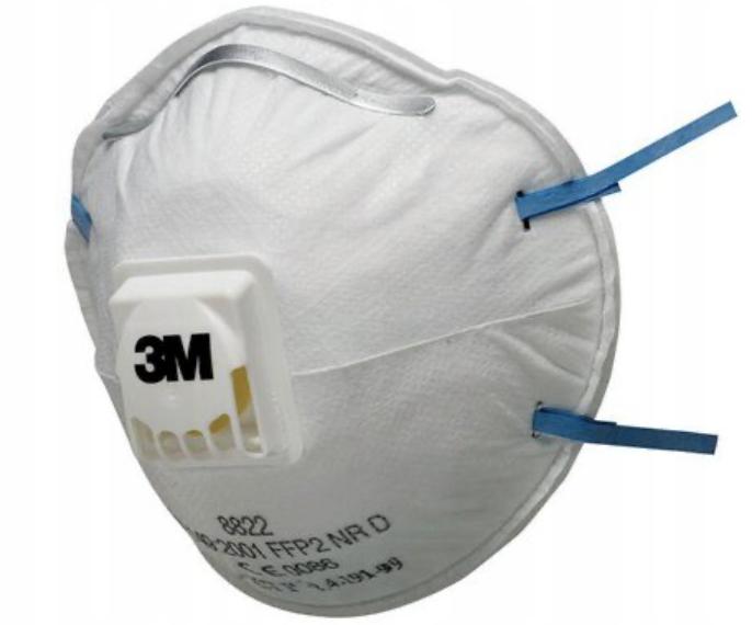 Фильтрующая маска HALF-MASK PROTECTIVE 3M 8822 FFP2