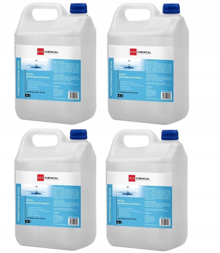 Дистиллированная деминерализованная вода 4x 5l для железа