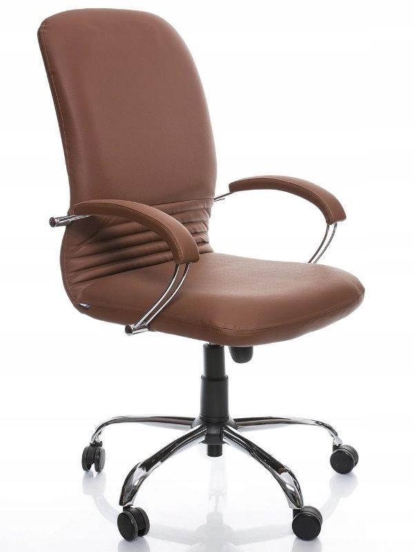 """""""MIRAGE"""", kancelárska otočná stolička, HNEDÁ, kožené TILT NS"""