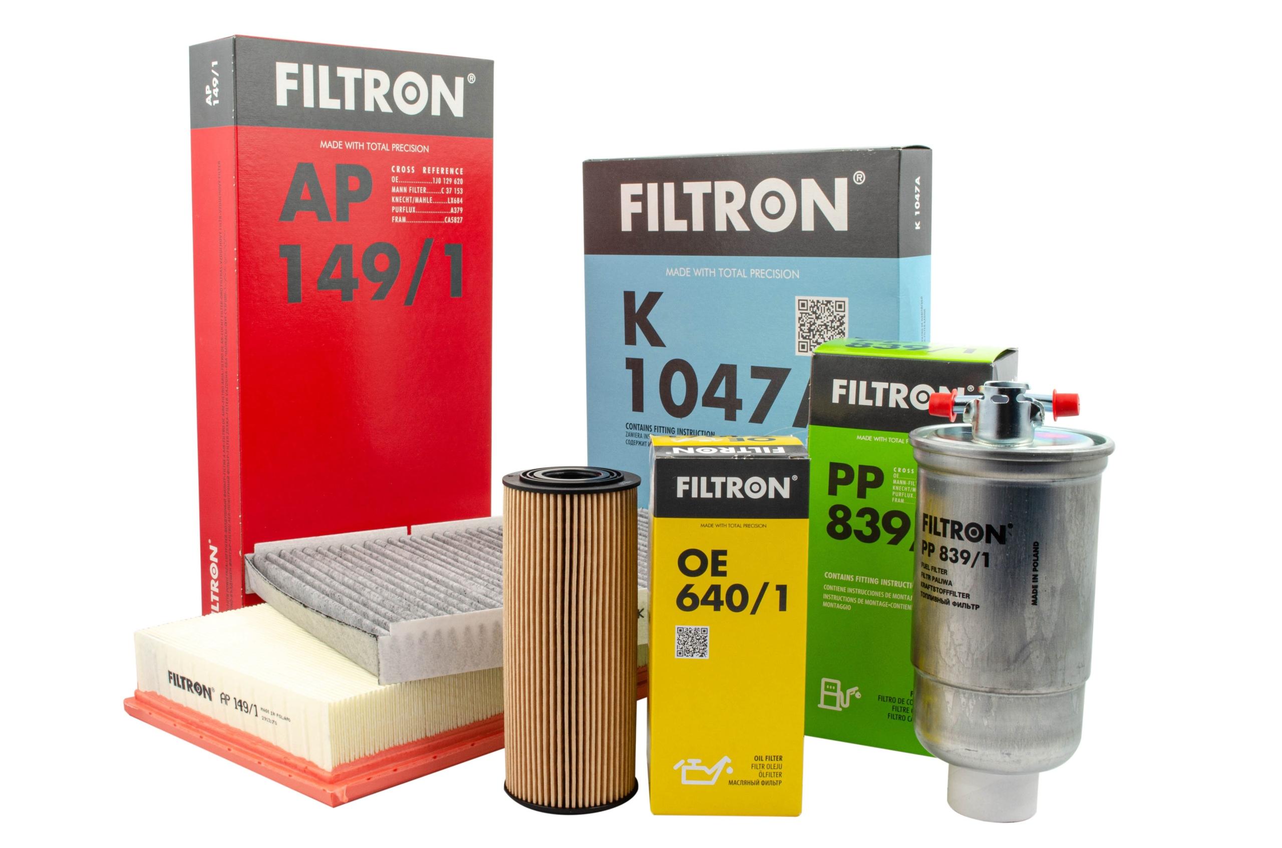 комплект фильтры гольф iv бора audi a3 19tdi filtron