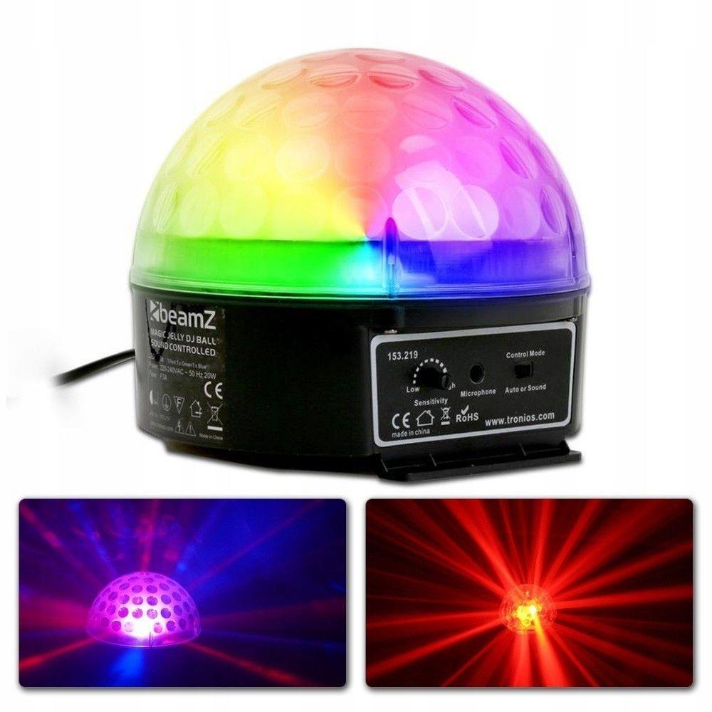 Disco hemisféra LED BEAMZ Magic Jelly DJ Ball